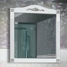 Зеркало Belux Империя В85 (38) белый с патиной