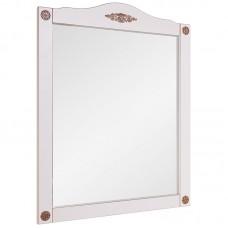 Зеркало Belux Верди В85 (38) белый с патиной