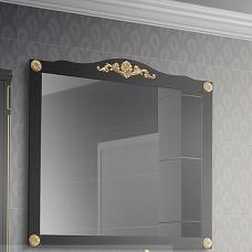 Зеркало Belux Верди В85 (39) черный с патиной