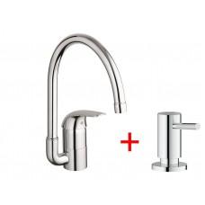 Комплект для кухни 124121  Euroeco 32752000 + дозатор 40535000