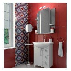 Шкаф зеркальный TRITON Diana 65 белый с подсветкой ( L/ R)
